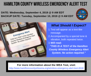 Hamilton County Emergency Management & Homeland Security Agency to Conduct Countywide Test
